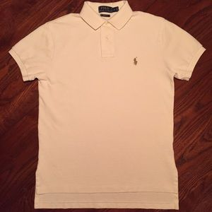 POLO Ralph Lauren S Off White Classic Polo Shirt